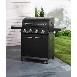 Dyna-Glo 4 - Burner Free Standing Liquid Propane 48000 BTU Gas Grill with Side Burner and Cabinet