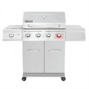 Royal Gourmet 4 - Burner Free Standing Liquid Propane 54000 BTU Gas Grill with Side Burner and Cabinet